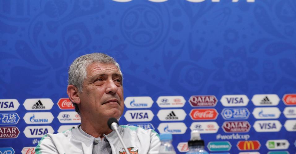 Fernando Santos, técnico de Portugal, em entrevista coletiva nesta sexta-feira