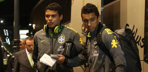 Marquinhos e Thiago Silva foram concorrentes na Copa do Mundo com a seleção - Bruno Domingos/Mowa Press