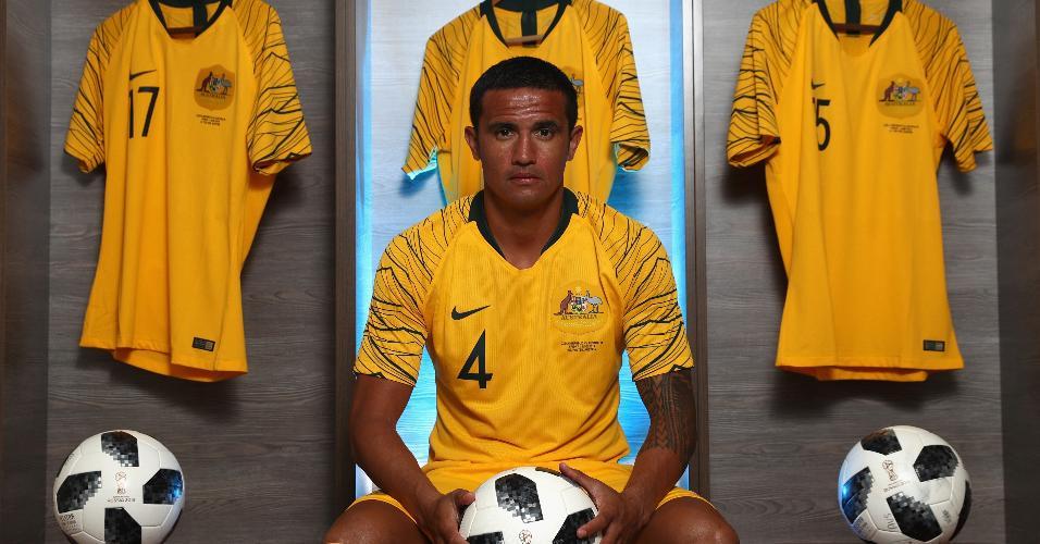 O atacante Tim Cahill defenderá a Austrália na Copa do Mundo da Rússia