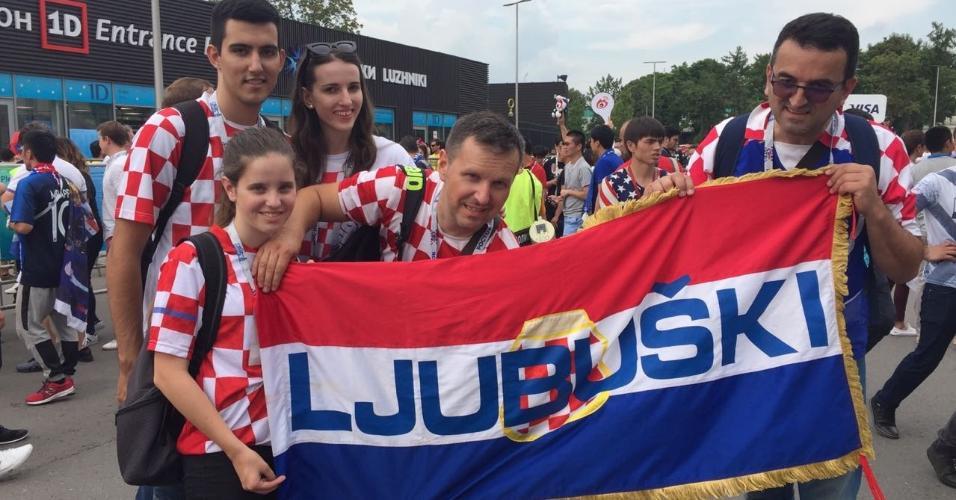 Torcida croata comparece na final contra a França, que começa 12h (horário de Brasília), em Moscou