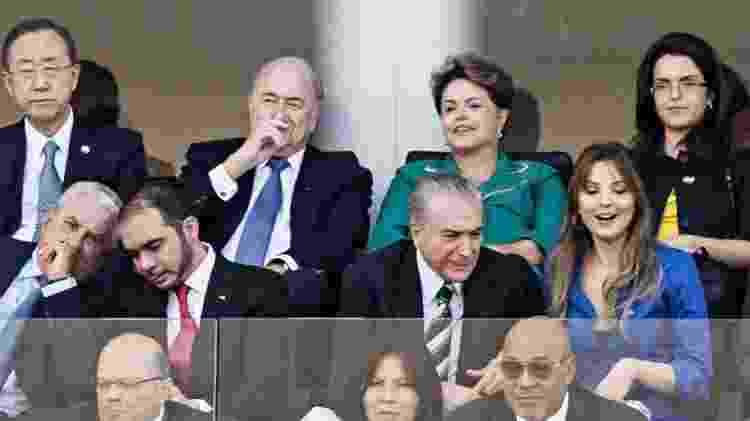 Dilma na abertura da Copa - Eduardo Knapp/Folhapress - Eduardo Knapp/Folhapress
