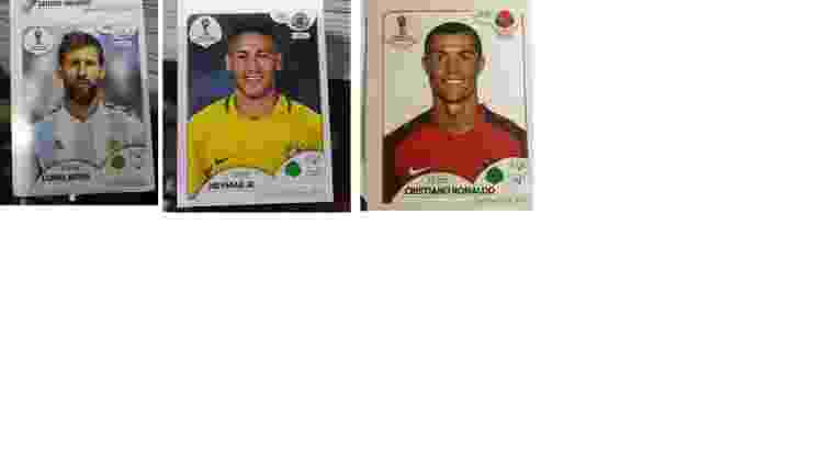 Fotos de Messi, Neymar e Cristiano Ronaldo no álbum da Copa - UOL Esporte - UOL Esporte