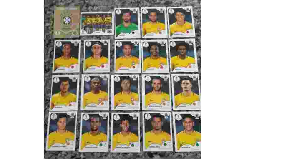 Suposta página da seleção no álbum da Copa vaza na web - Reprodução