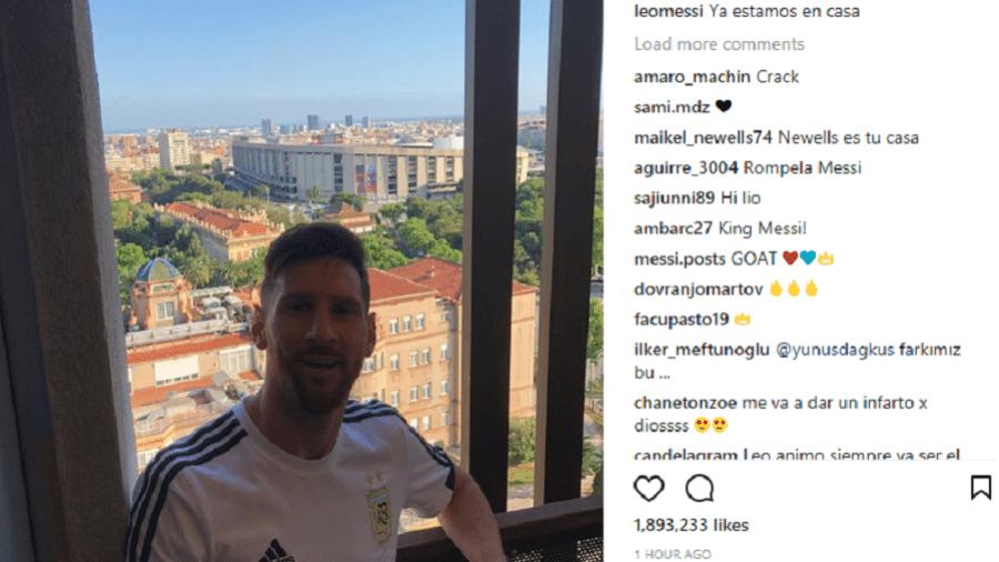 Messi está em Barcelona para treinamentos com a seleção argentina - Reprodução