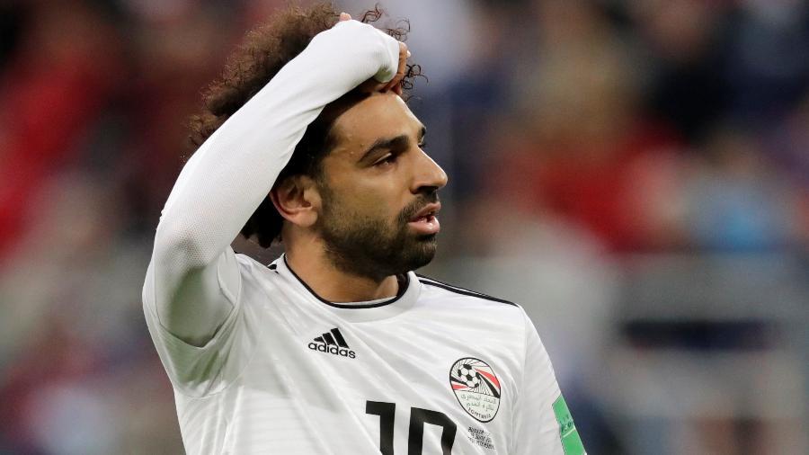 Mohamed Salah durante Rússia x Egito na Copa do Mundo - HENRY ROMERO/REUTERS