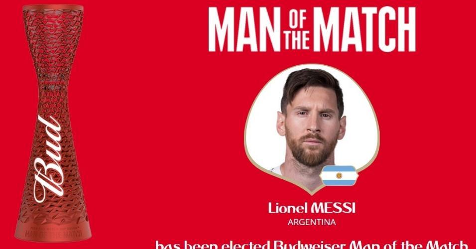 Lionel Messi é eleito o
