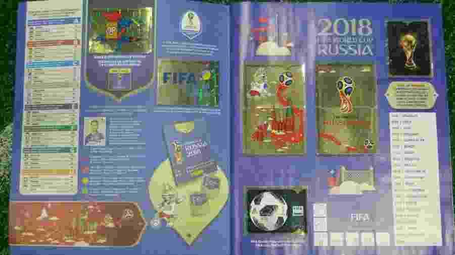 Primeira página do álbum oficial da Copa do Mundo de 2018 - Gabriel Carneiro/UOL