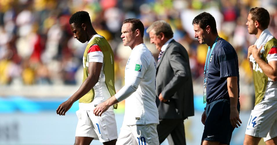 A Inglaterra de Wayne Rooney foi eliminada da Copa de 2014 na fase de grupos