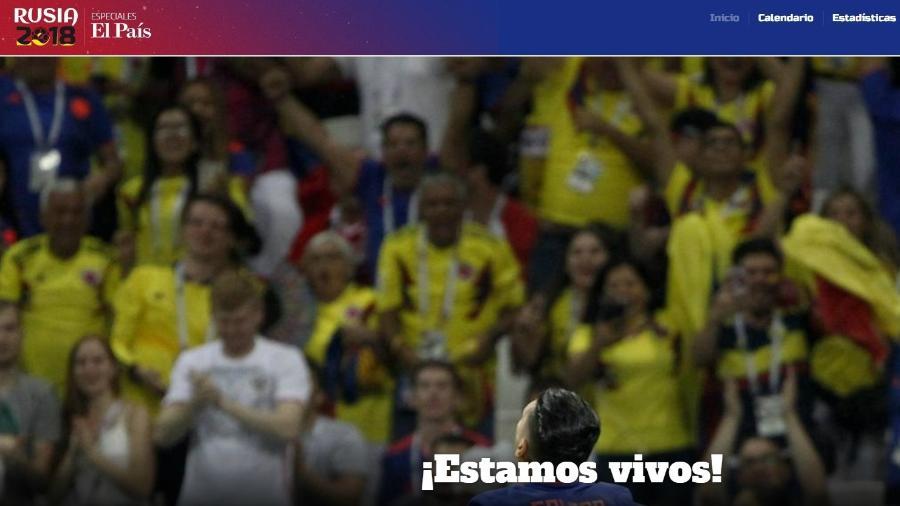 El País destaca a vitória colombiana sobre a Polônia por 3 a 0 - Reprodução