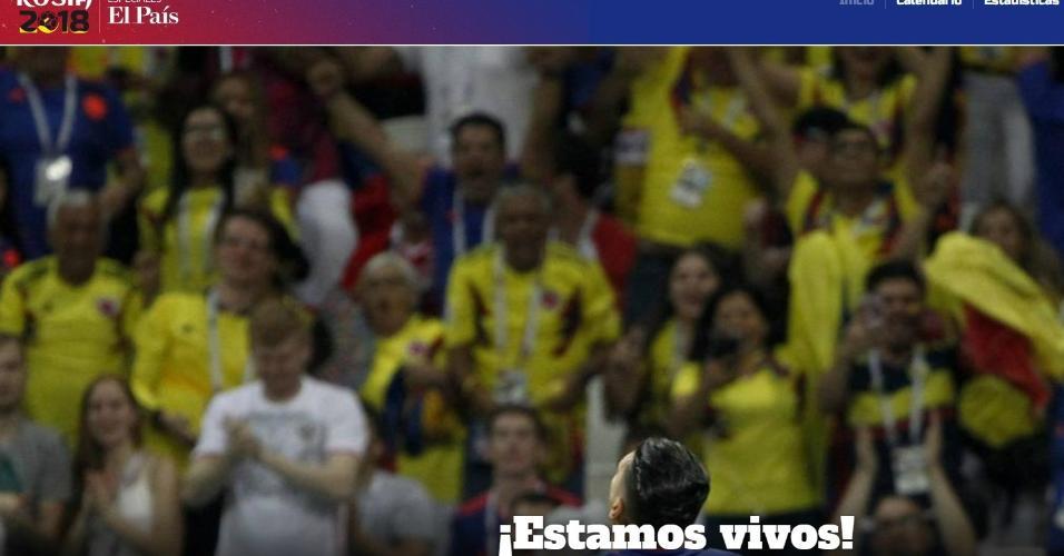 El País destaca a vitória colombiana sobre a Polônia por 3 a 0
