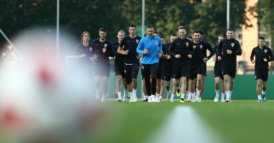 Jogadores da Croácia treinam em Moscou