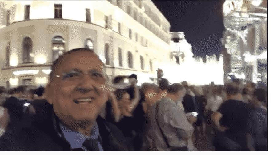 Galvão registra festa russa em Moscou após vitória - Reprodução