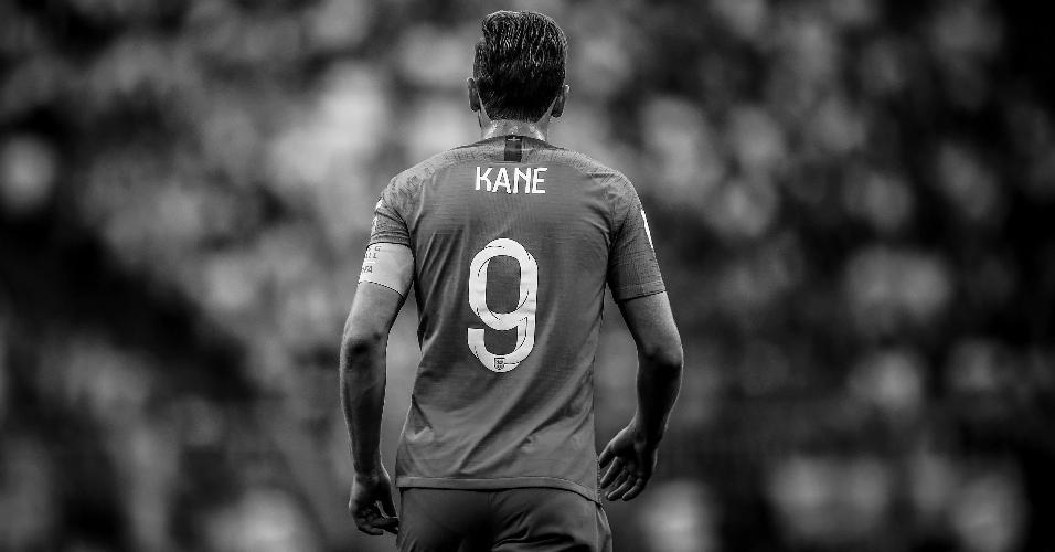 Harry Kane, atacante da Inglaterra, durante a vitória da Inglaterra sobre a Suécia