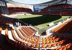 Arquibancadas externas de estádio viram provocação de uruguaios a chilenos