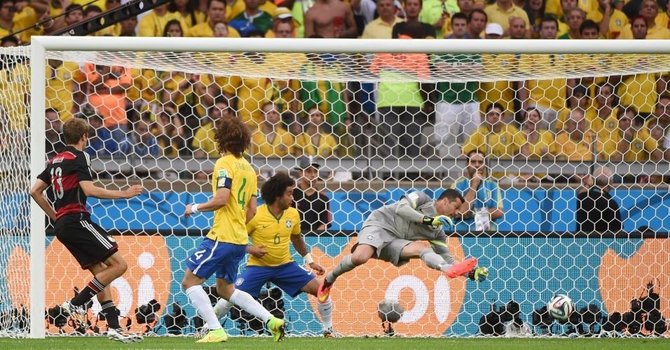 Alemanha balança as redes na partida que terminou 7 a 1 contra o Brasil