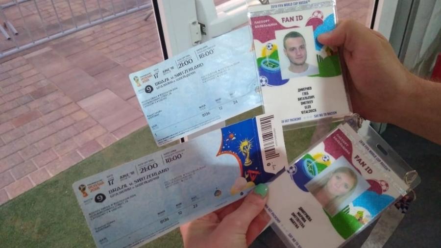 Ingressos que brasileiros deram a casal russo - Acervo pessoal/Gleb Obodovsky