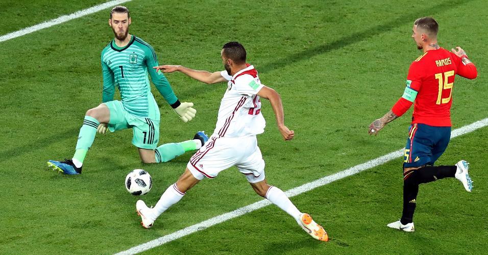 De Gea Espanha Marrocos defesa Copa do Mundo