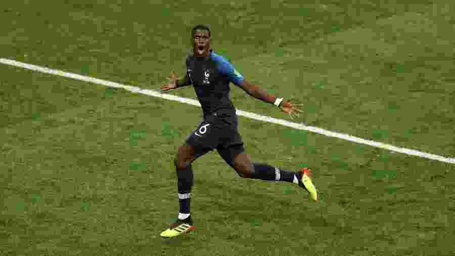 Pogba comemora gol da França diante a Croácia na final da Copa do Mundo - Catherine Ivill/Getty Images