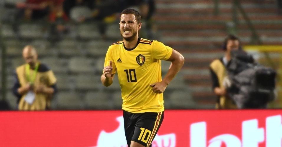 Eden Hazard sente dores ao deixar o campo no amistoso entre Bélgica e Costa Rica