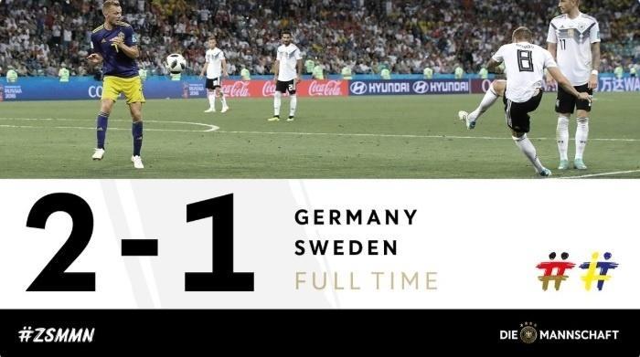 Alguém nos bilisque! Kroos faz o gol da virada da Alemanha