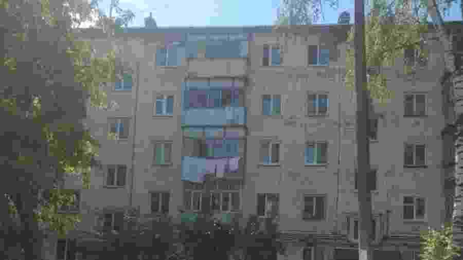 Fachada do apartamento deu medo em torcedores brasileiros que estão em Saransk - Diego Lopes