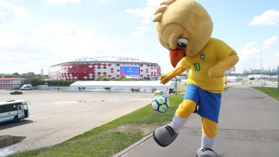 Canarinho em ação no Spartak Stadium, palco da vitória do Brasil sobre a Sérvia - Lucas Figueiredo/CBF