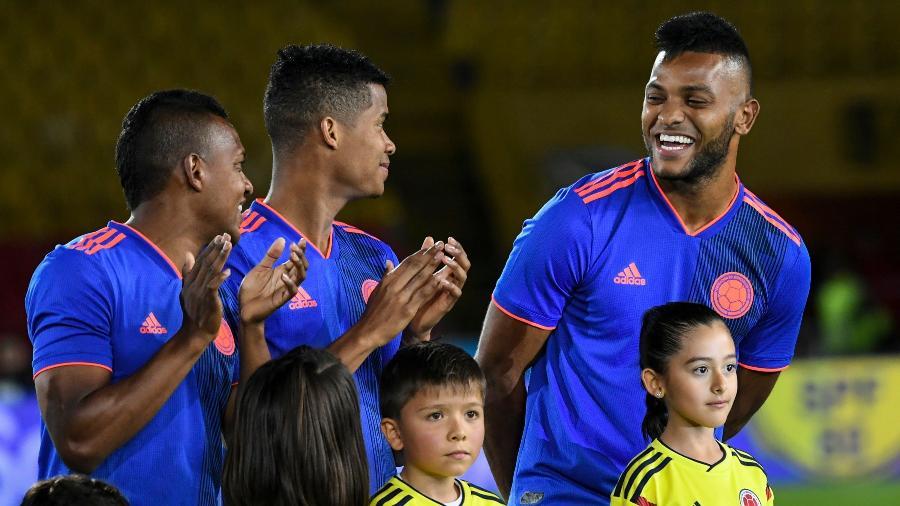 """Em busca de uma vaga na convocação final da Colômbia, Borja anota gol em """"jogo de despedida"""" da torcida - LUIS ACOSTA/AFP"""