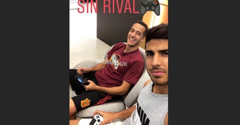 Asensio mostra entrosamento com Lucas Vázquez no videogame: