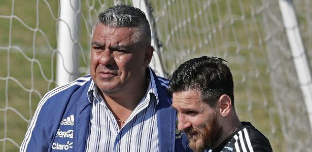 Tapia com Messi durante a Copa do Mundo: incertezas no futuro argentino - Alejandro Pagni/AFP