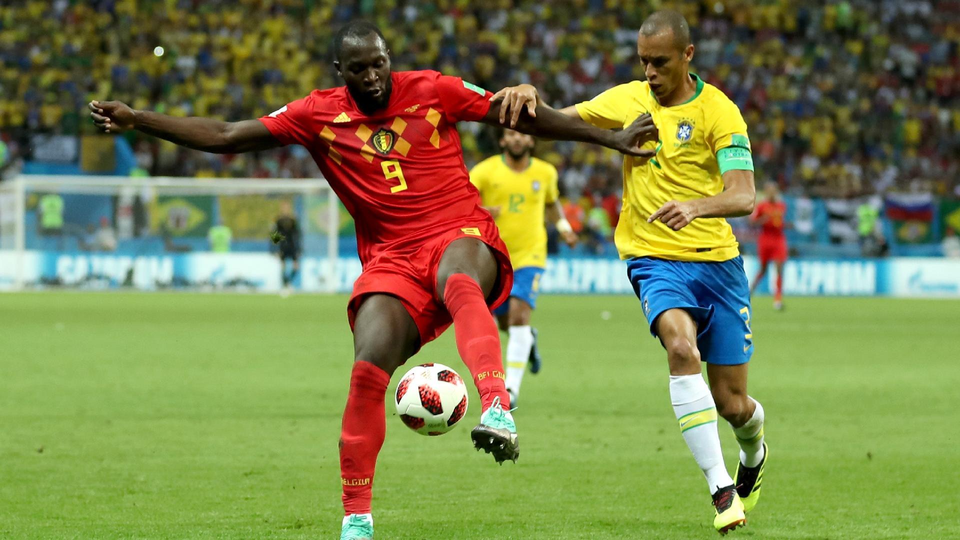 Lukaku Miranda Brasil Bélgica