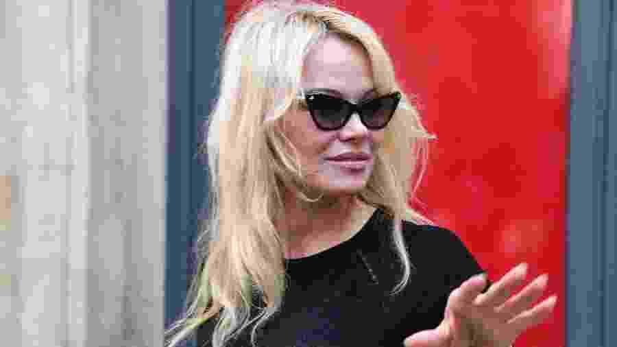 Pamela Anderson é fotografada em evento em Nimes, na França, em maio de 2018 - Pascal Guyot/AFP