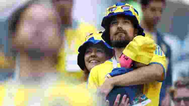 Pais com o bebê sueco - Damir Sagolj/Reuters