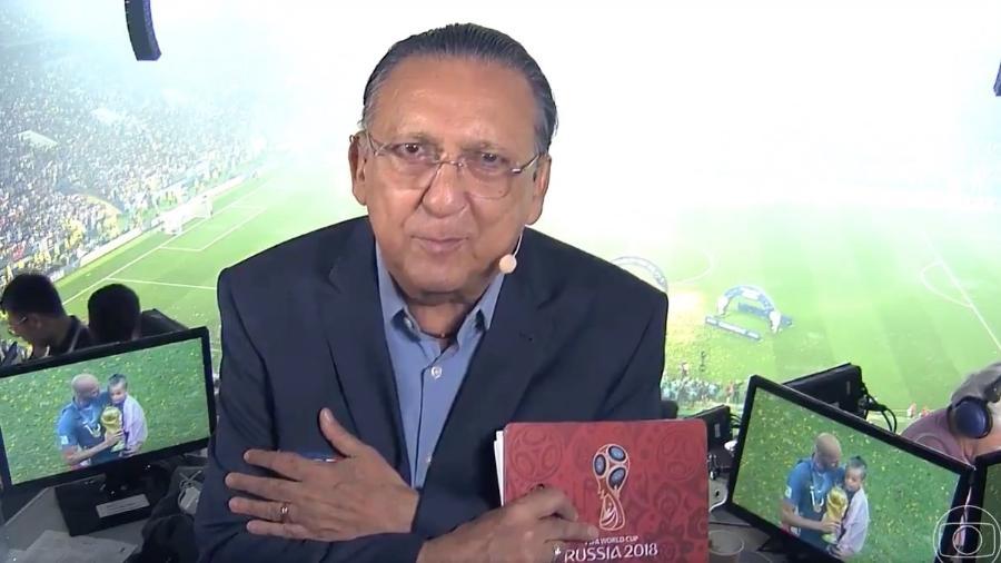 Galvão Bueno fala após a transmissão da final da Copa do Mundo na Globo - Reprodução/Rede Globo
