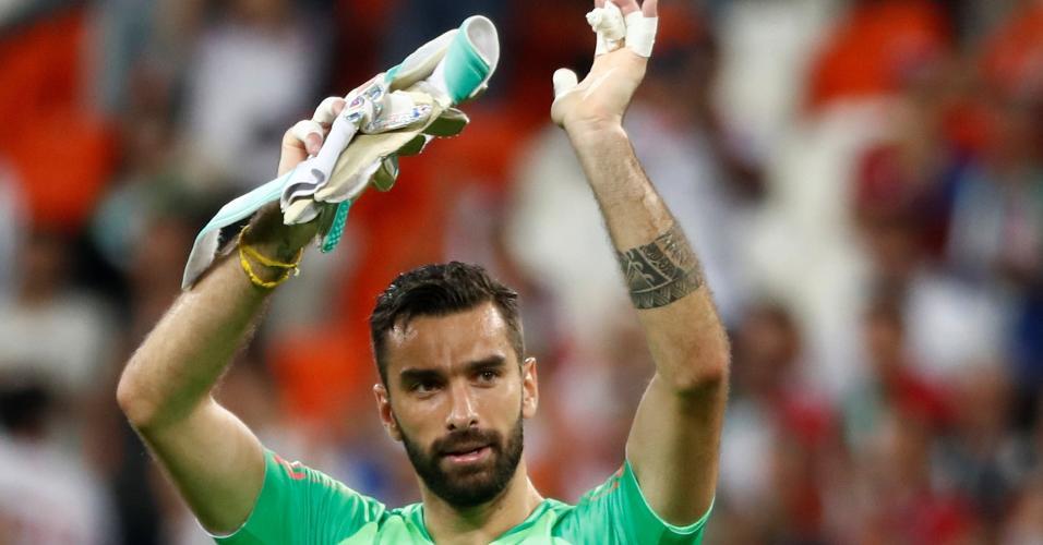 Rui Patrício comemora classificação de Portugal às oitavas de final da Copa do Mundo