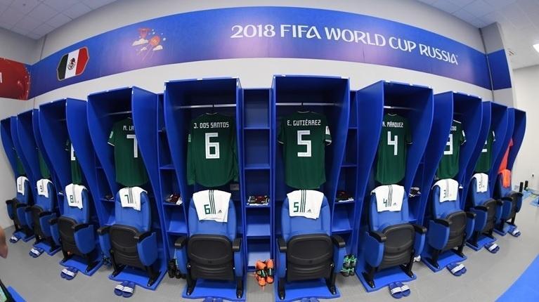 Vestiário do México para a partida contra o Brasil