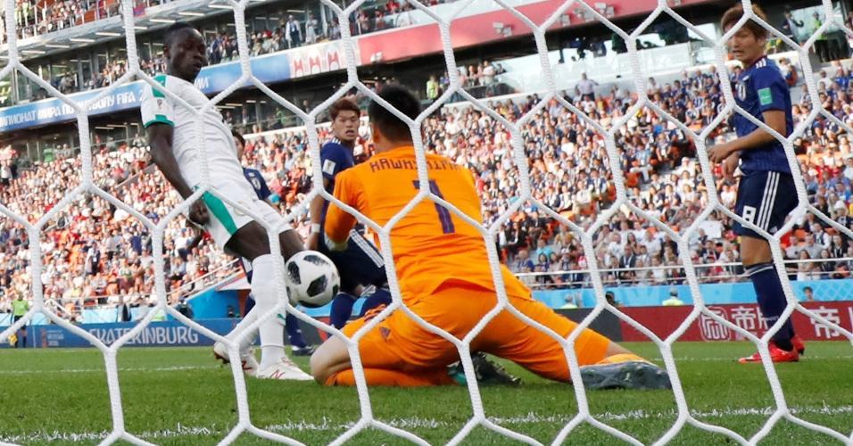 Japão Senegal Mané gol falha Kawashima