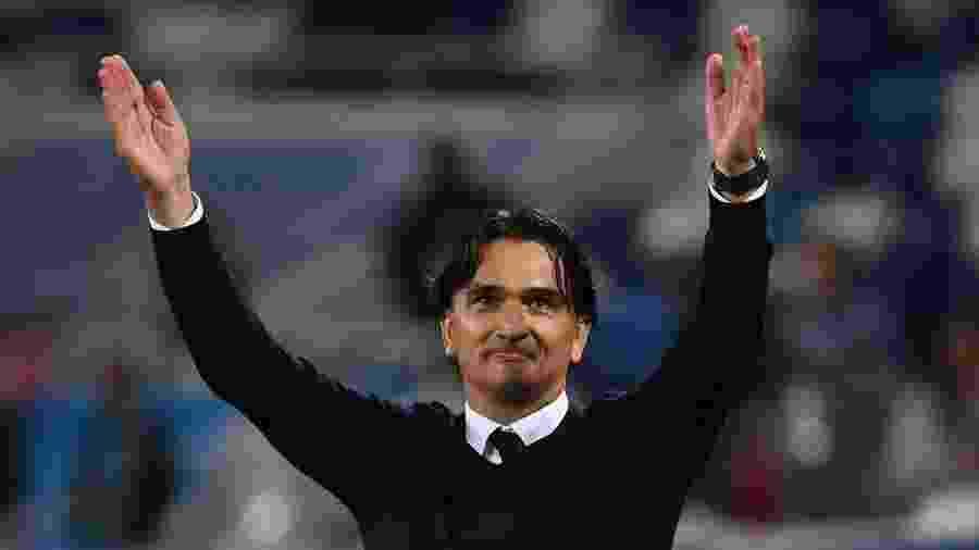 O técnico Zlatko Dalic comemora vitória da Croácia contra a Nigéria pela Copa do Mundo - Xinhua/Chen Cheng