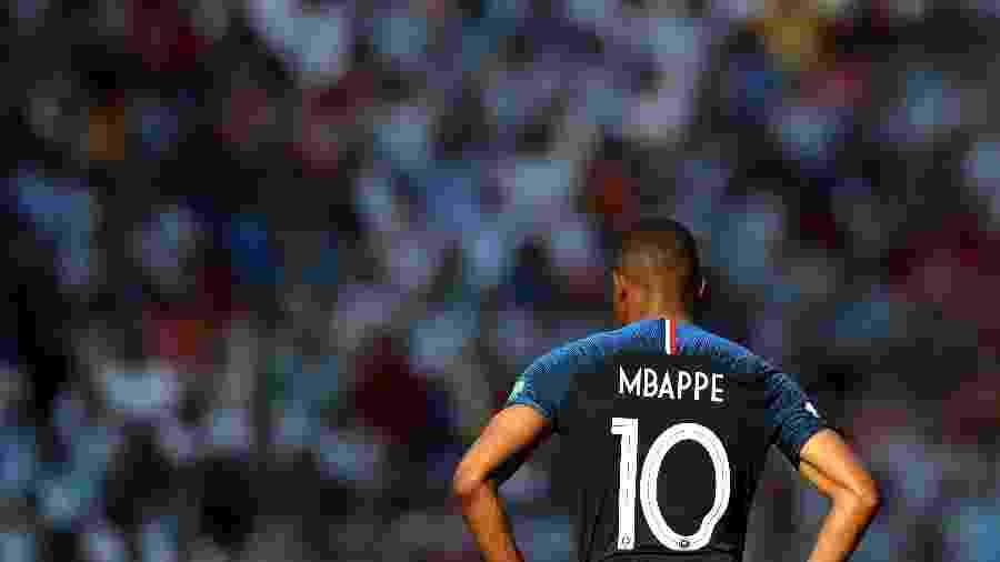 Mbappe, atacante da França, no duelo contra a Argentina - Lars Baron - FIFA/FIFA via Getty Images