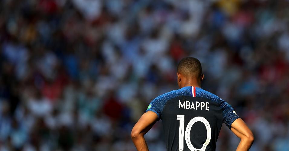 Mbappe, atacante da França, no duelo contra a Argentina