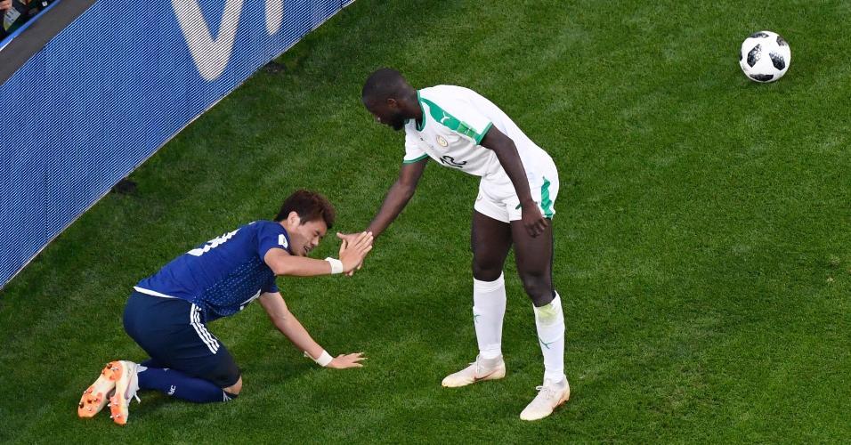 Senegal Japão Sakai Sabaly ajuda