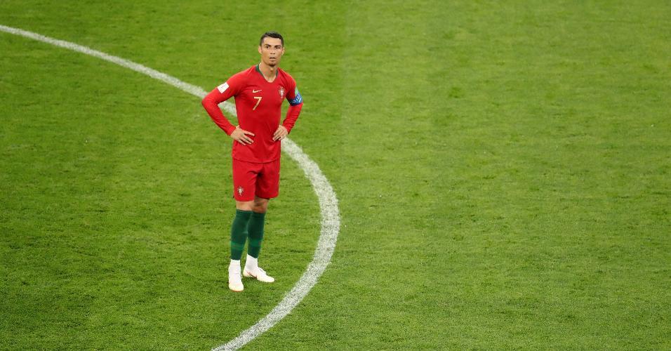 Cristiano Ronaldo durante partida entre Portugal e Irã na Copa do Mundo