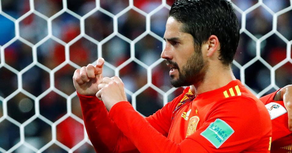 Isco Espanha Marrocos Copa do Mundo gol