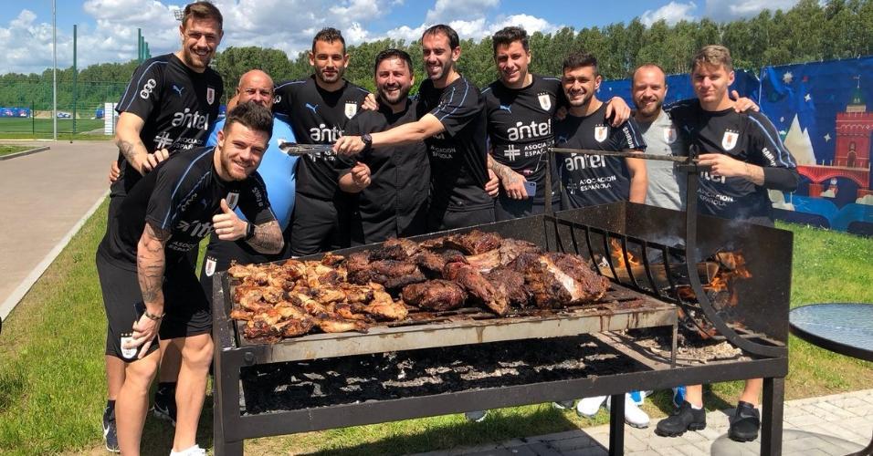 Seleção uruguaia churrasco