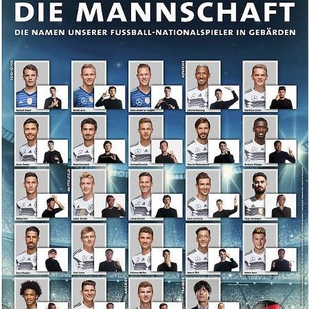 Suposta lista que foi vazada pelo site da federação alemã Imagem  Reprodução e147ae27de14b