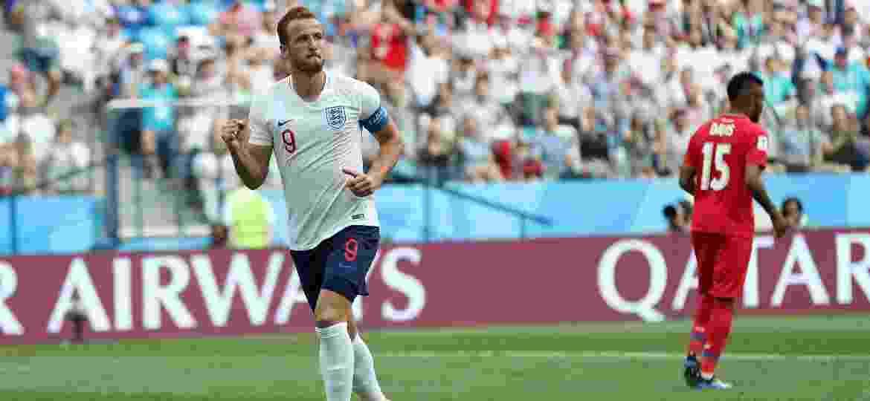 Harry Kane comemora o quinto gol da Inglaterra sobre o Panamá - Alex Morton/Getty Images