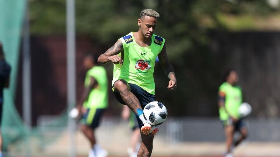 Neymar, durante treino da seleção brasileira - Divulgação/CBF