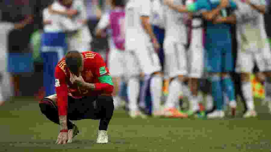 Sergio Ramos desabafa após eliminação espanhola