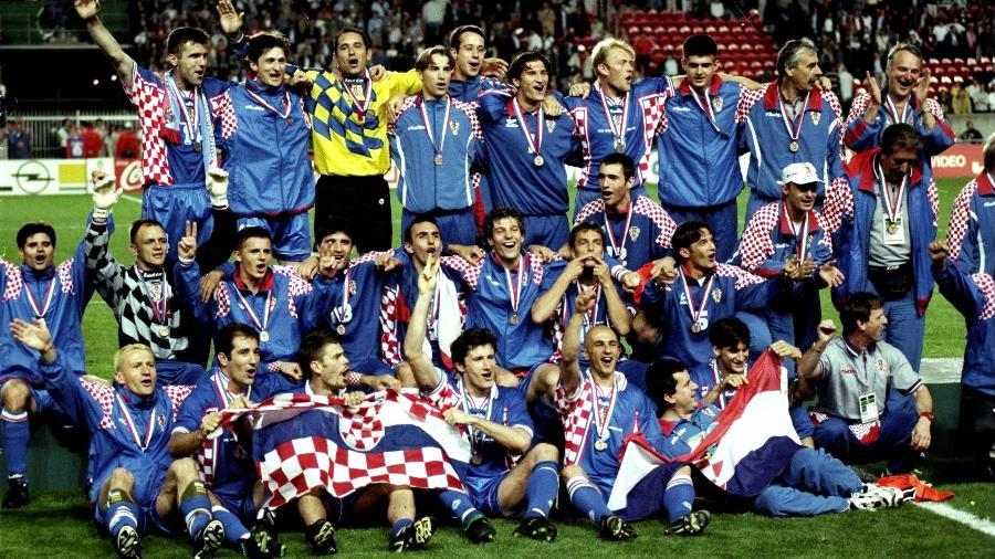 Semifinalista em 98, Croácia (foto) nunca mais brilhou em Copas do Mundo; já Nigéria tenta mostrar bom futebol da década de 90 - Ross Kinnaird/Allsport/Getty Images