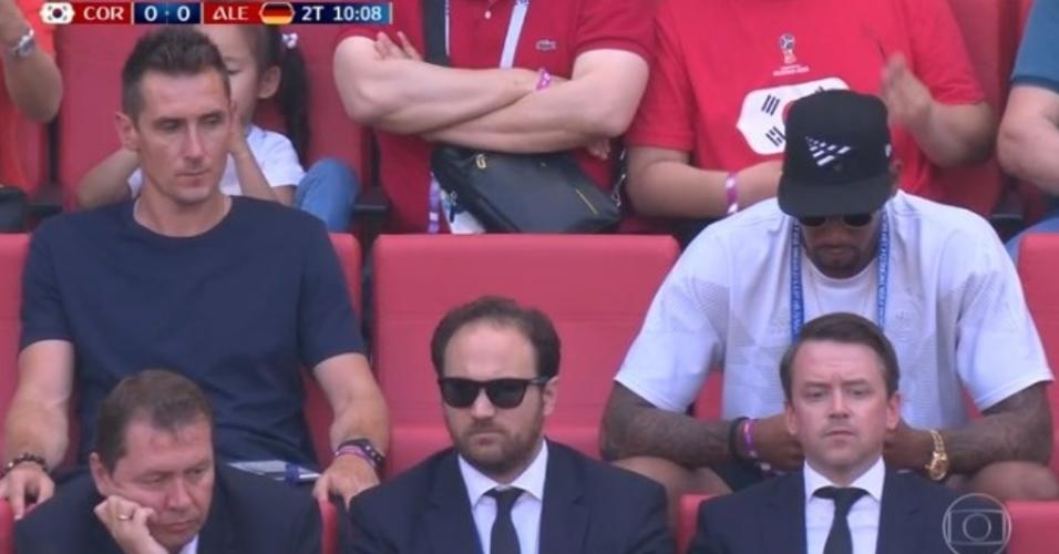 Klose assiste Alemanha x Coreia do Sul ao lado de Boateng, suspenso