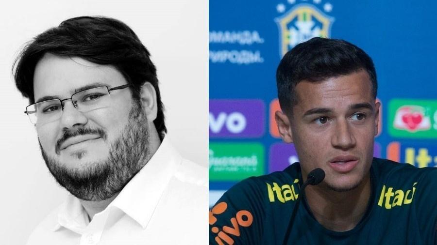 Jornalista Filipe Coutinho foi confundido com o jogador Philippe Coutinho - Reprodução